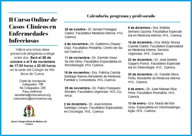 II CURSO ONLINE DE CASOS CLÍNICOS EN ENFERMEDADES INFECCIOSAS