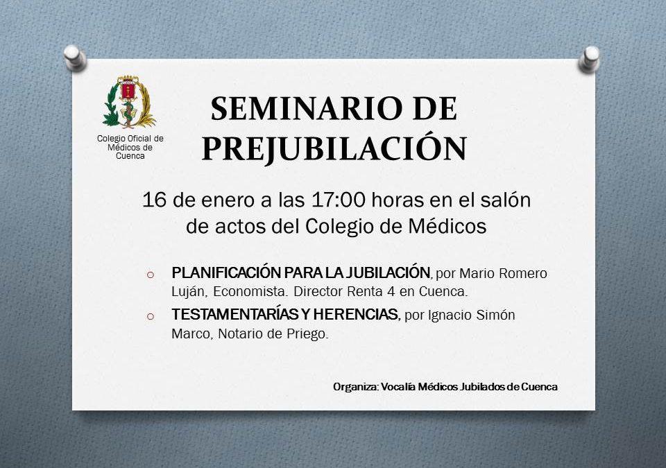 SEMINARIO DE PREJUBILACIÓN