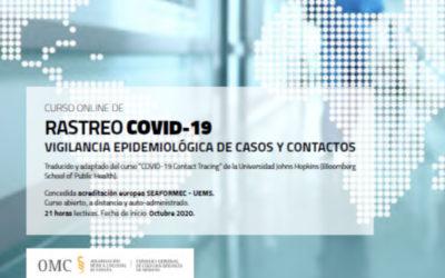 """Curso """"Rastreo COVID-19, vigilancia epidemiológica de casos y contactos"""""""